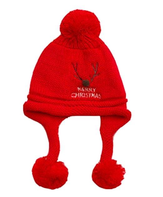 Deyou Bebé Sombrero de Navidad de bebé recién Nacido con Gorro de ...