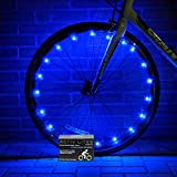Super Cool LED Bike Wheel Lights - Best Christmas Gifts & Birthday Presents for Boys Girls and Fun Adults. BATTERIES INCLUDED! Get 100% Brighter & Safe Bicycle Spokes Rims & Tires (1 pk) (Blue)