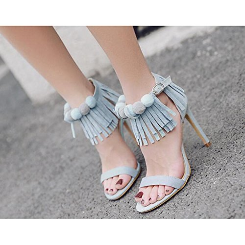 Blue Casual Comfort Primavera mandorla sandali Light Stiletto pu ZHZNVX Azzurro Heel donna per Estate Scarpe tXRxv6
