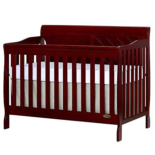 Dream On Me Ashton Full Panel Convertible 5 in 1 Crib in Cherry