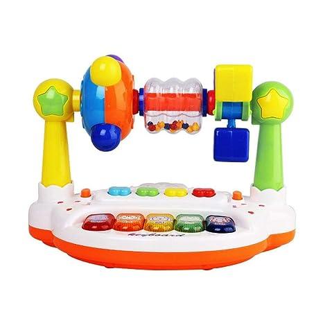 Teclado musical Juguetes para bebés Infantiles para niños Giradiscos Piano Sonajero Bebé Aprendizaje temprano Máquina de