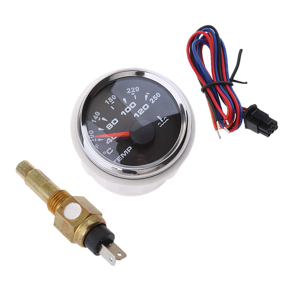 Amazon.com: Baosity 52mm 2 inch Waterproof IP67 Marine Boat Yacht Water Temperature  Gauge Temp Sensor: Automotive