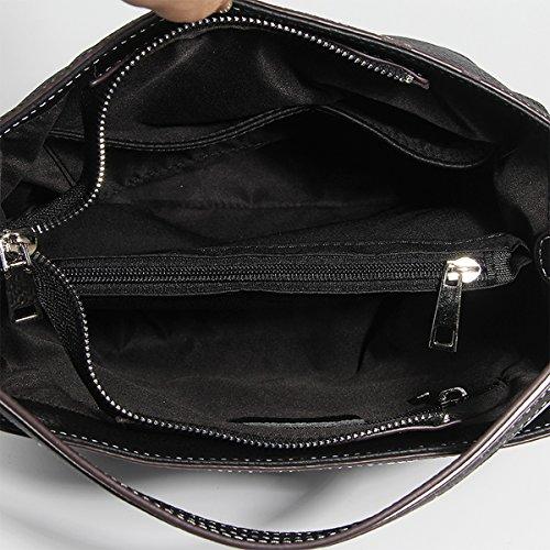 DISSA Sac Sac LF bandoulière main 182 portés fashion épaule Noir en cuir femme Sac à rfrwZEn7q