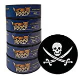 Hooch Snuff - Non-Tobacco Nicotine Free Chew - Mint - Fine Cut - Includes Free DC Skin Can Cover (5)
