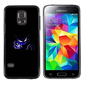 LECELL--Funda protectora / Cubierta / Piel For Samsung Galaxy S5 Mini, SM-G800 -- Azul flash Diablo --