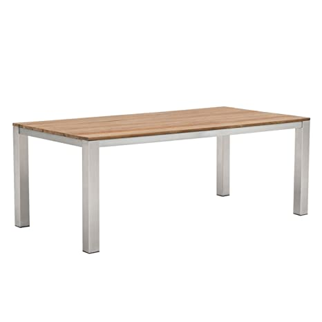 Table de jardin outliv. Oviedo Table Inox Brossé/en teck ...
