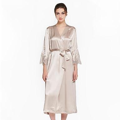 Traje 100% Seda de la Mujer, Suelta el cordón de Kimono ...