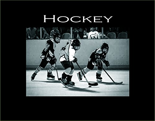 Infusion Gifts Hockey, Small Engraved Photo Frame, Black