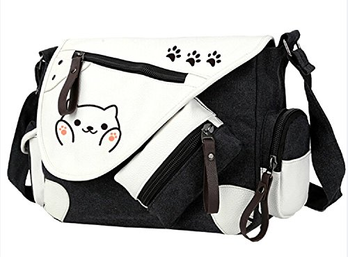 Siawasey Game Neko Atsume Anime Cosplay Handbag Messenger Bag Backpack Shoulder Bag