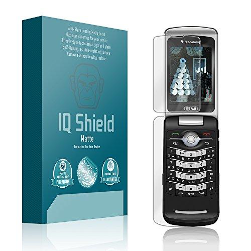 (IQ Shield Matte Full Coverage Anti-Glare Screen Protector for BlackBerry Pearl Flip 8220 Anti-Bubble Film)