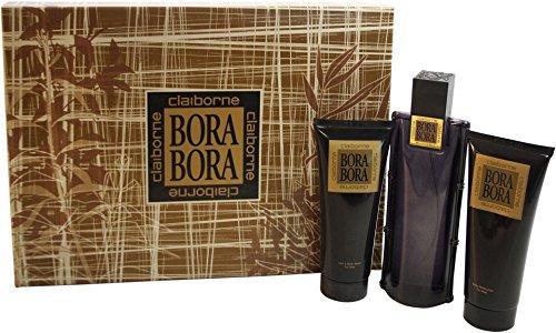 iborne Gift Set -- 3.4 Oz Cologne Spray + 3.4 Oz Body Moisturizer + 3.4 Oz Hair & Body Wash Men ()