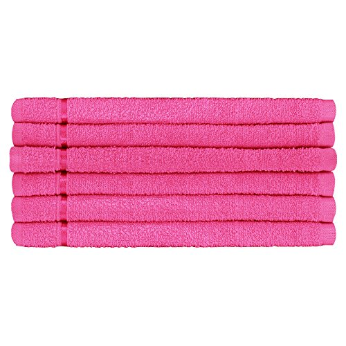 Story@Home 100% Cotton Soft Towel Set of 6 Pieces, 450 GSM - 6 Face Towels  - Pink