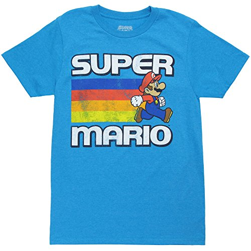Mushroom Lane - Fifth Sun Men's Nintendo Super Mario Fast Lane Graphic T-Shirt (Large, Turquoise Heather)
