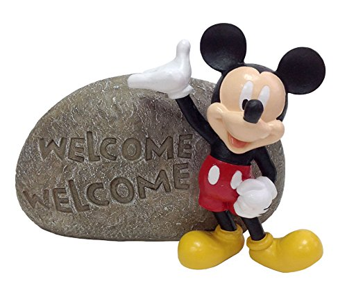 Design International Group Mickey Welcome Stone, 8 X 8 Inches -