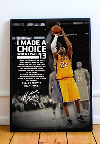 Kobe Quote Limited Poster Artwork - Professional Wall Art Merchandise (More (8x10)