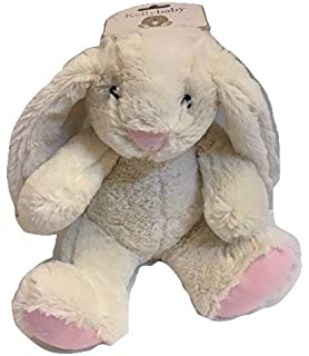 Kellybaby Cuddle Long Legs Bunny Plush with Rattle Easter White