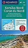 Korsika Nord, Corse du Nord, Weitwanderweg GR20: 3 Wanderkarten 1:50000 im Set inklusive Karte zur offline Verwendung in der KOMPASS-App. Fahrradfahren. (KOMPASS-Wanderkarten, Band 2250)