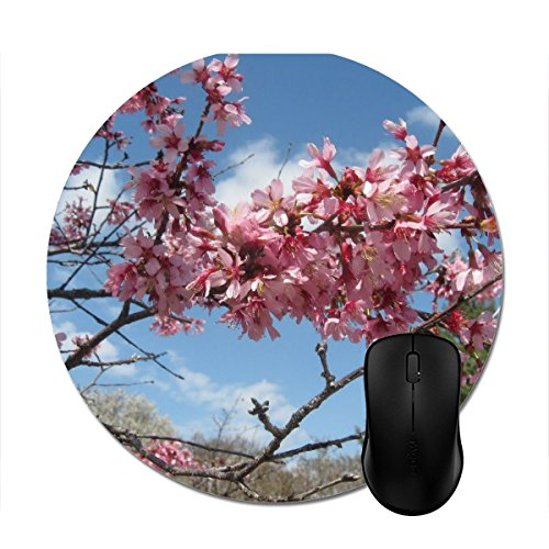 Mousepad Pink Spring Blossoms Print Non-Slip Round Mouse (Top Ten Wholesale Review)