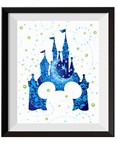 Uhomate Tinkerbell Peter Pan Princess Cinderella Castle Home Canvas Prints Wall Art Anniversary Gifts Baby Gift Inspirational Quotes Wall Decor Living Room Bedroom Bathroom Artwork C092 (8X10) ()