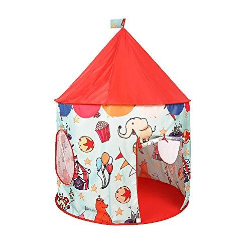 怪物雪だるまを作るコンテンポラリー家庭の照明- 子供のゲームテントの色手描きの小さな動物の漫画のパターンラウンドは屋内と屋外のおもちゃのテント(唯一のテント) テント