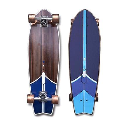 Big Fish Plate Skateboard Viaje en la Calle Pequeño Fish Board Adulto Hombre Principiante Skateboard Tierra