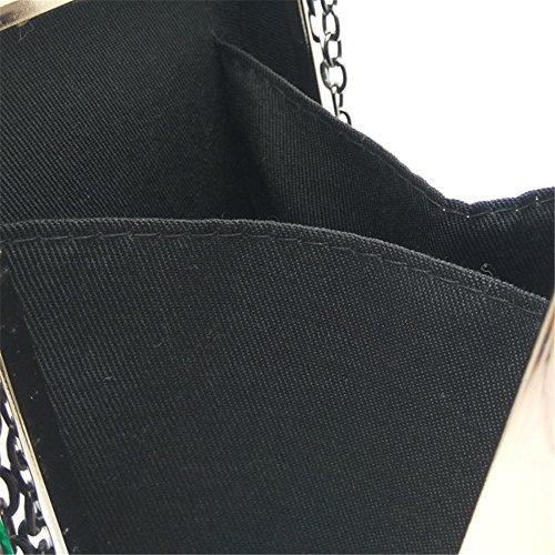 Flagon Diamond MSFS Green Ladies Wedding Party Dress Handbag Clutch Shoulder Evening 6zAw68nq