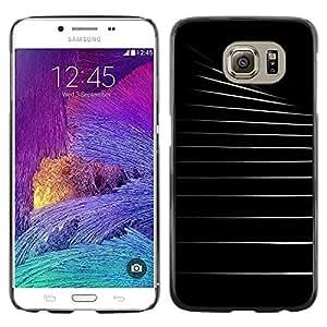 Caucho caso de Shell duro de la cubierta de accesorios de protección BY RAYDREAMMM - Samsung Galaxy S6 SM-G920 - Black White Architecture Empty