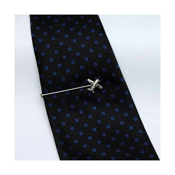 ZAUNICK-Gee-Bee-Airplane-Tie-Clip-Sterling-Silver