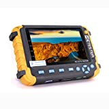 Pomiacam 5 Inch TFT LCD 4-in-1 CCTV Tester 5MP AHD TVI 4MP CVI CVBS Security Camera Tester Coaxial HD Video Monitor Support PTZ Controller/UTP Cable Test/VGA HDMI Input/DC12V Output