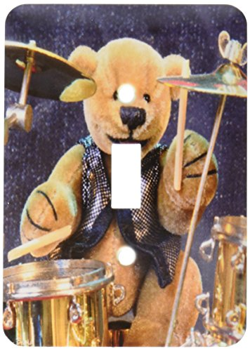(3dRose Lsp_12636_1 Dinky Bears Drummer Single Toggle)