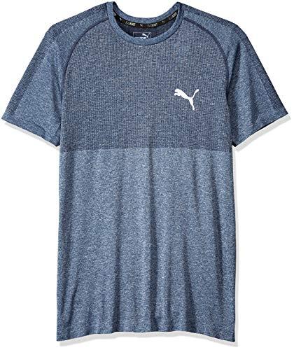 PUMA Men's Evoknit Better T-Shirt, F Peacoat, M