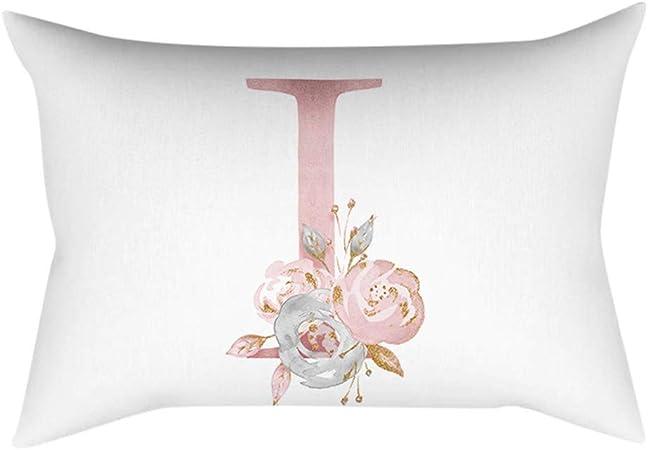 Fiori Bianchi E Gialli 11 Lettere.Gokomo Lettere In Polvere Oro Rosa Cuscino Decorativo Per Bambini
