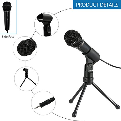 Jeystar SF-910 Condenser Sound Microphone with 3.5mm Audio Plug & Tripo For Computer PC by Jeystar (Image #6)