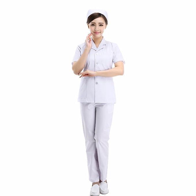 Xuanku Las Doctoras Split Short Batas Blancas Y Ropa De Manga Larga Y Una Enfermera De Servicio Servicio Experimental: Amazon.es: Ropa y accesorios