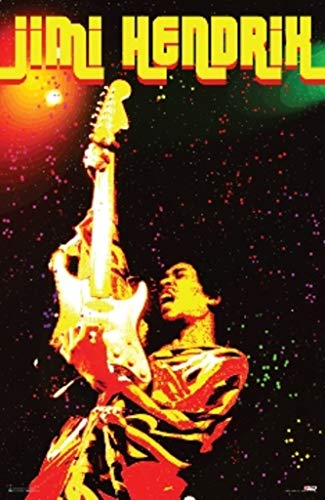 Pyramid America Jimi Hendrix Electric Voodoo Music Poster 24x36 inch