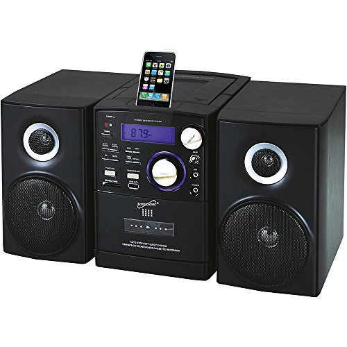 Supersonic SC805 Portable MP3/CD Player With iPod Docking, USB/SD/AUX Inputs, Cassette Recorder & AM/FM Radio (Retail Packaging, Black)