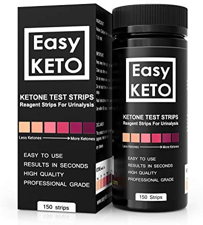 Easy Keto Ketone Testing Strips: For Urinalysis 150 High Grade Test Sticks Accurately Measure Urine Level For Ketones Perfect For Ketogenic Paleo Low Carb and Atkins Diets and Monitoring Ketosis 5