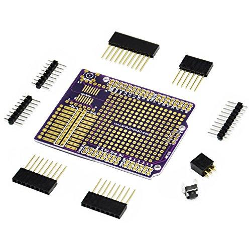 Gikfun Proto Shield Gold Print Board Diy Kit for Arduino UNO R3 Mega 1280 2560 328P (Pack of 3 Sets) GK1089 (Print 2560)
