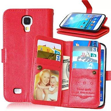 Casos hermosos, cubiertas, Alta calidad de la PU billetera de cuero caja de la pistolera del teléfono móvil para el borde de la galaxia s6 más / borde s6 / s6 / s5 / ( Color : Marrón , Modelos Compati Rojo