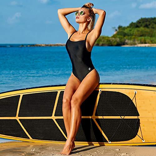 a91c7748922 Baleaf Women s Athletic Training Adjustable Strap One Piece Swimsuit  Swimwear Bathing Suit Black 38