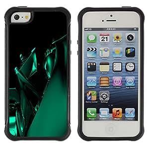 Be-Star único patrón Impacto Shock - Absorción y Anti-Arañazos Funda Carcasa Case Bumper Para Apple iPhone 5 / iPhone 5S ( Green Abstract )