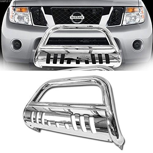 VXMOTOR 2008-2012 Nissan Pathfinder Stainless Steel Front Bumper Bull Bar Guard (Chrome)