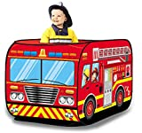 toy fire trucks for boys - Liberty Imports Kids Pop Up Play Tent | Foldable Indoor/Outdoor Playhouse for Toddlers, Boys and Girls (Fire Truck)
