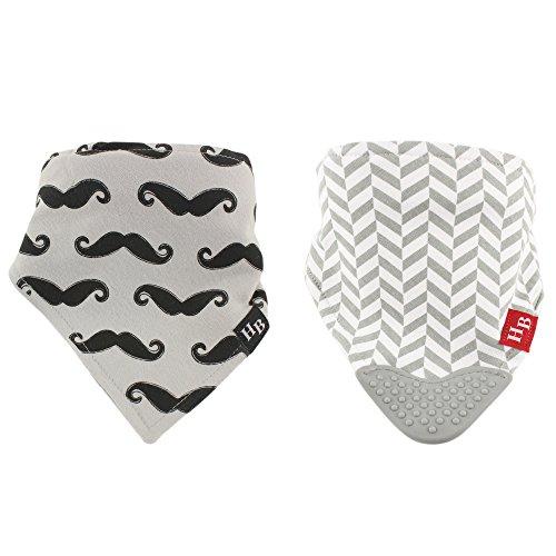 Hudson Baby Bandana Bib, Mustache, 2 (Baby Mustache)