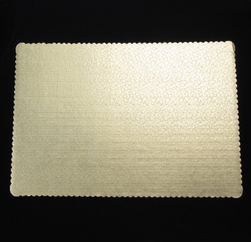 Gold Corrugated Rectangular Cake Boards, Single Wall (50, 17-1/2'' x 25-1/2'')