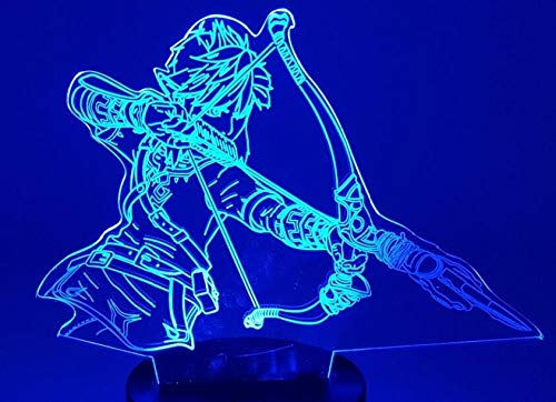 Lamp Sleeping - 3D Night Lights The Legend of Zelda Table Lamp Anime Game Breath of The Wild Visual Illusion - Night Light Gift for Baby, Children,Birthday,Halloween,Christmas ()