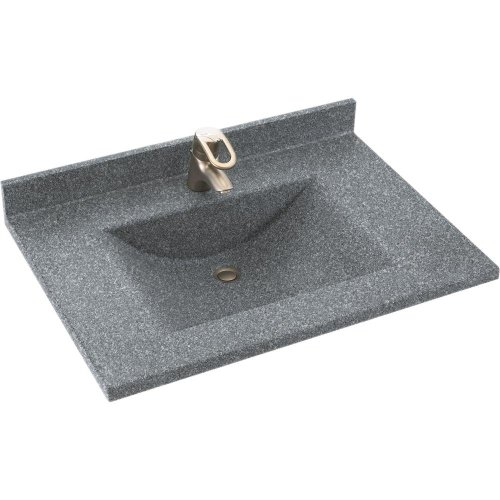 Swanstone CV2237-012 Contour 37-Inch Solid Surface Vanity Top with Night Sky Basin