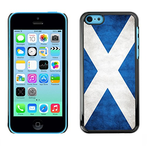 Omega Case PC Polycarbonate Cas Coque Drapeau - Apple iPhone 5C ( Scotland Grunge Flag )