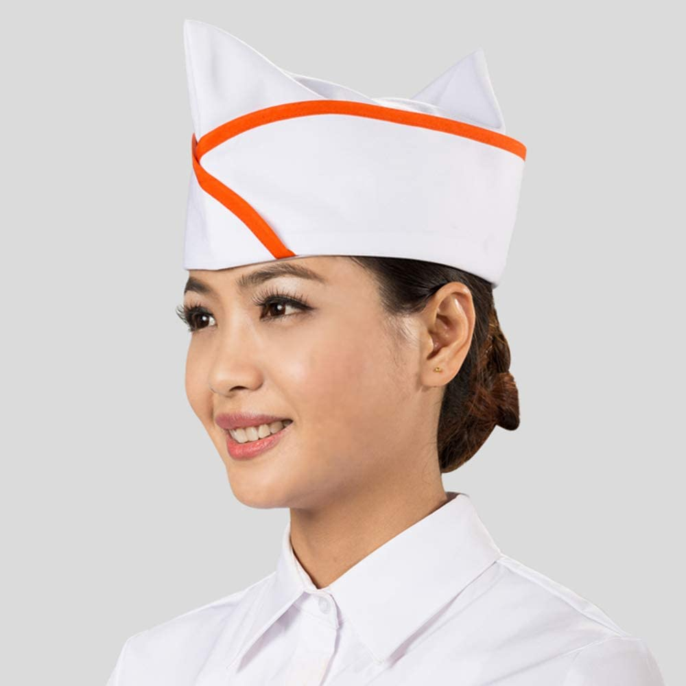 Japanese Sushi Chef Octagonal Hat Restaurant Waiter Work Ship Type Cap 1pc