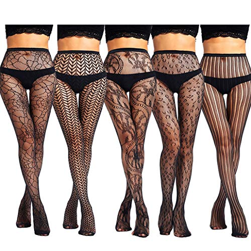 akiido High Waist Tights Fishnet Stockings Thigh High Stockings Pantyhose ()